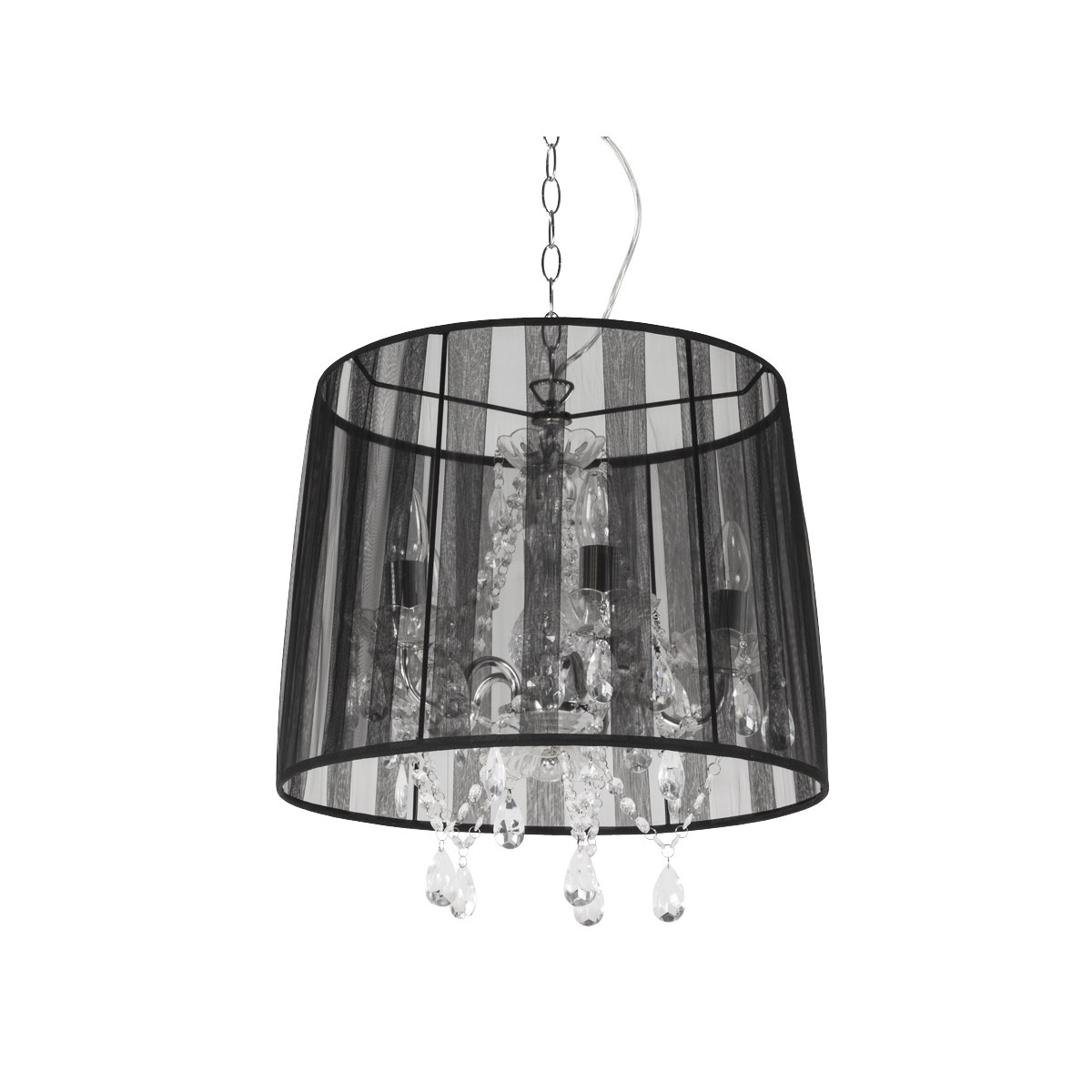 Alouette Black Fabric Lampshade Hanging Lamp Amp Story 2976