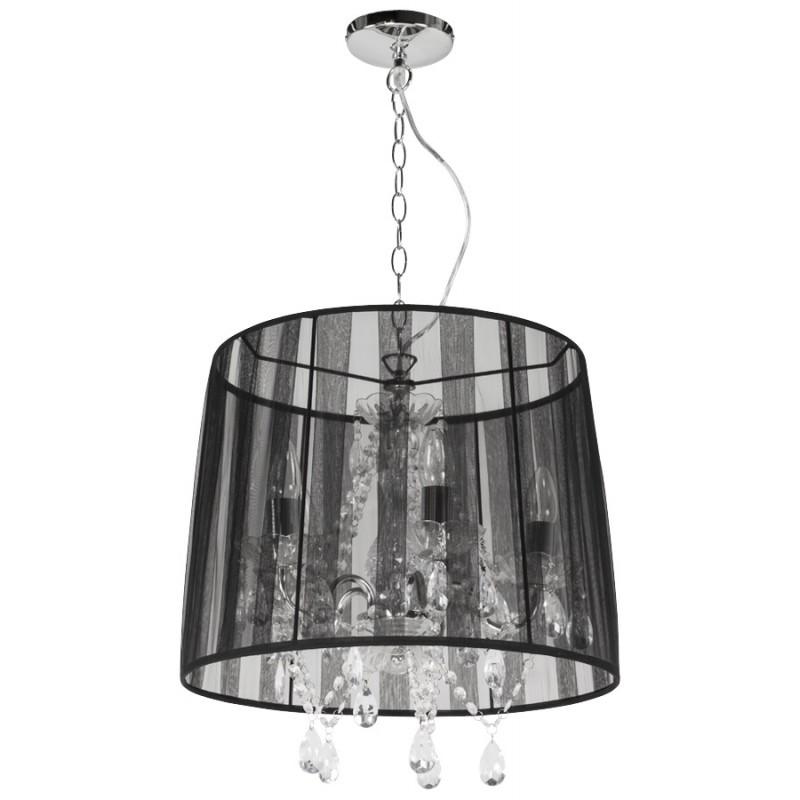 ALOUETTE (black) fabric Lampshade hanging lamp - image 17181