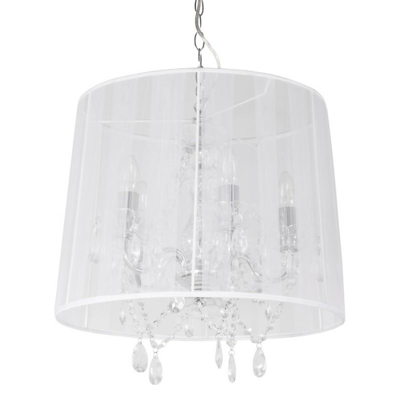 Lampe à suspension design ALOUETTE en tissu (blanc) - image 17191