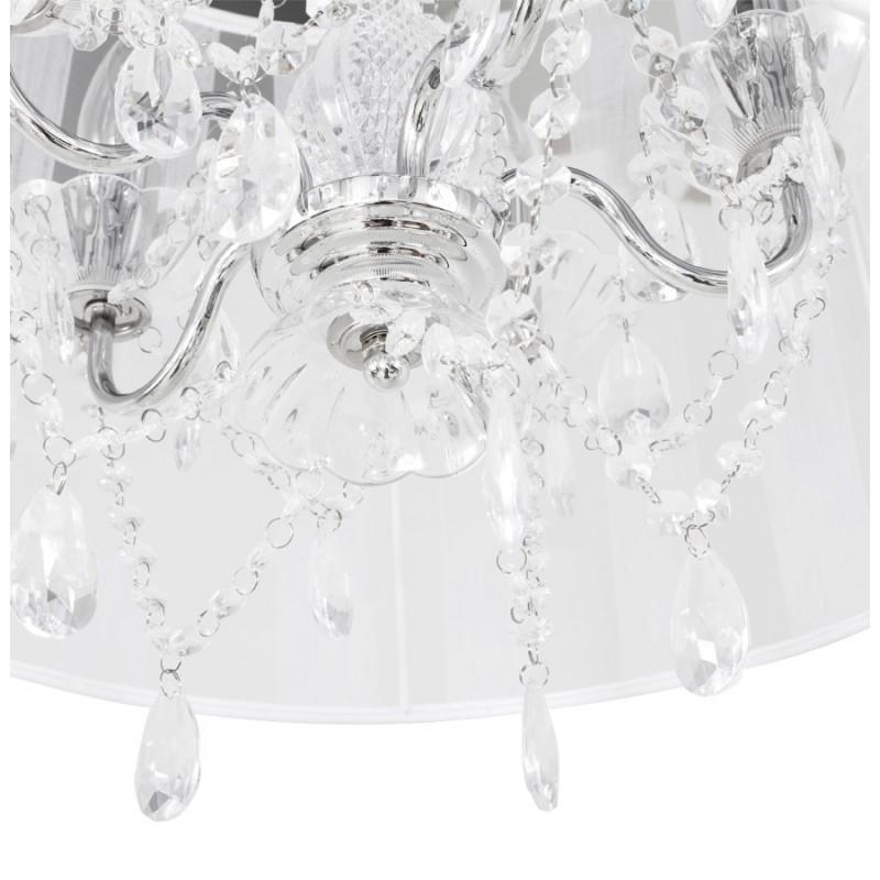 Lampe à suspension design ALOUETTE en tissu (blanc) - image 17196