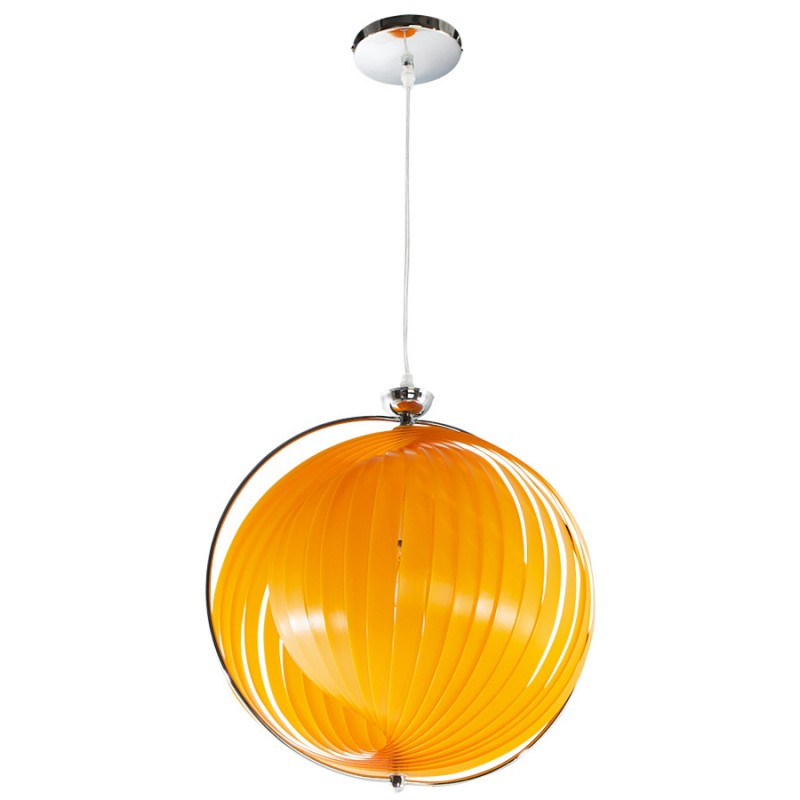 lampe suspension design moineau en m tal orange. Black Bedroom Furniture Sets. Home Design Ideas