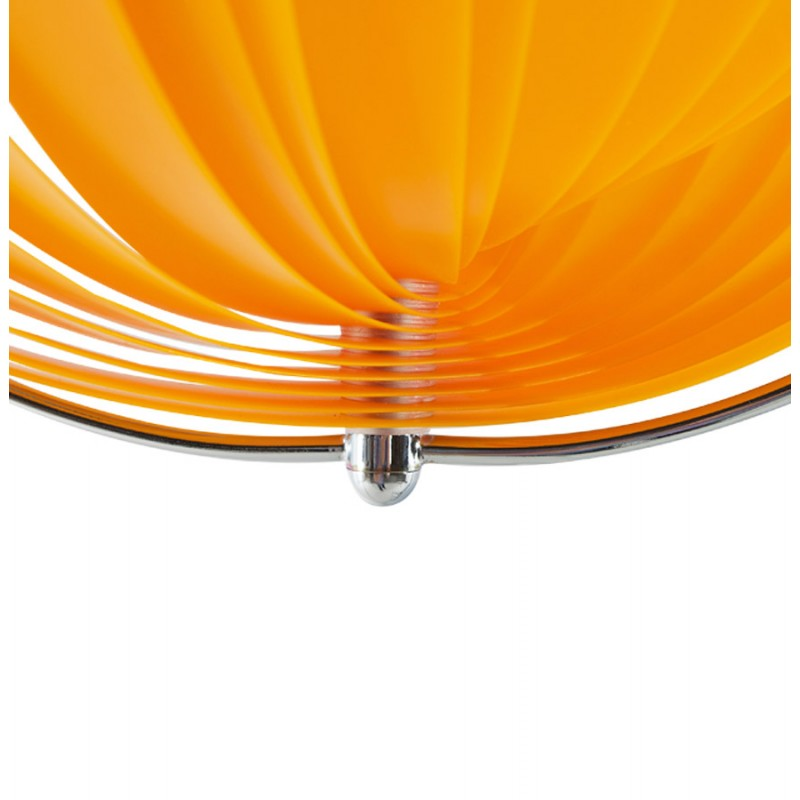Lampe à suspension design MOINEAU en métal (orange) - image 17211