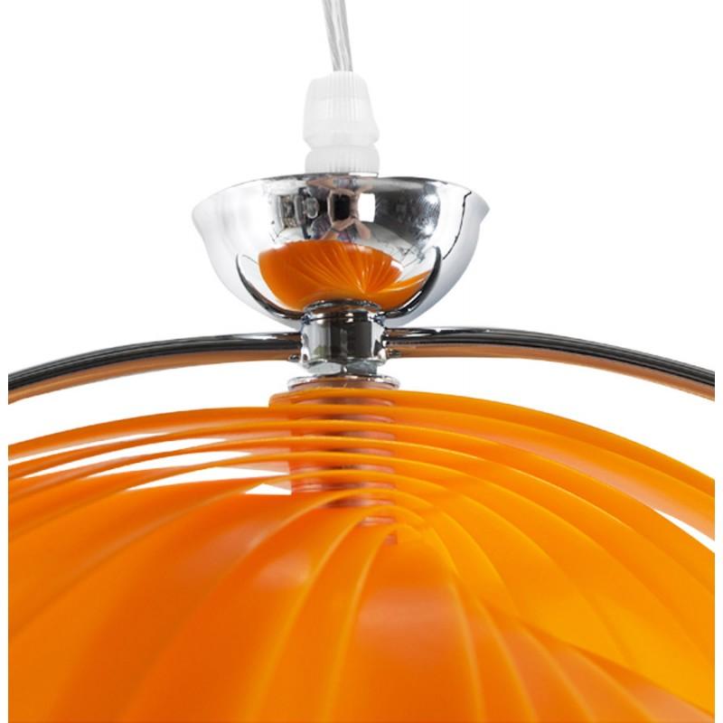 Lamp Design Suspension Moineau Metal Orange