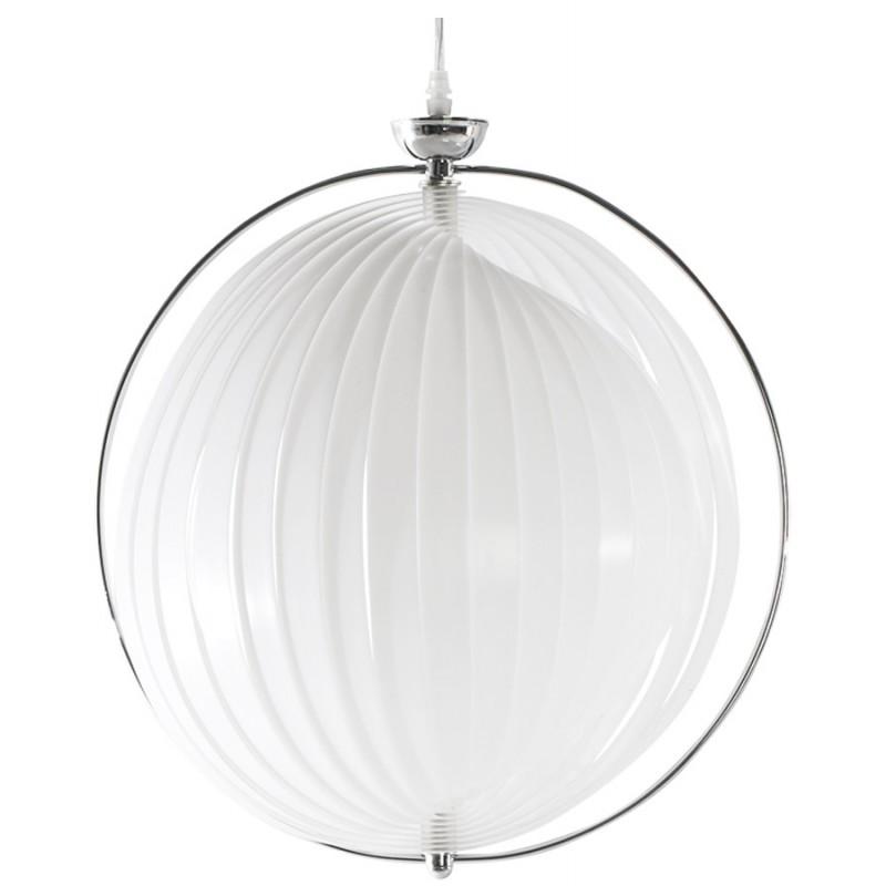 Lampe à suspension design MOINEAU en métal (blanc)