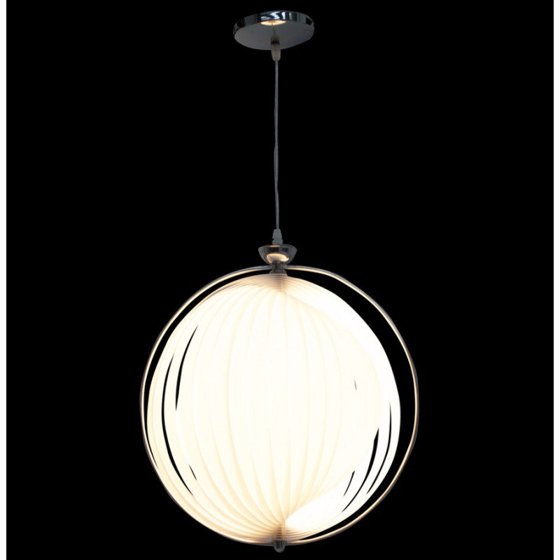 Lampe suspension design moineau en m tal blanc for Lampe suspension design