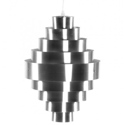 Lampe à suspension design ALQUE en métal (argent)