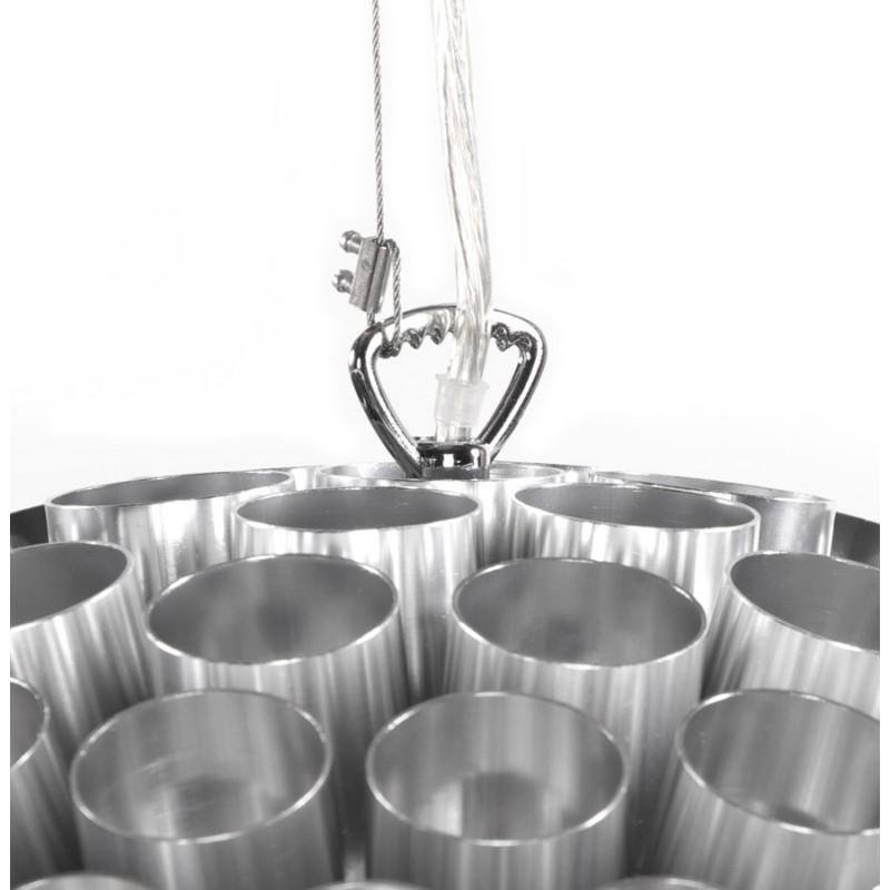 Lampe à suspension design APALIS en métal (argent) - image 17238