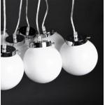 Design suspension lamp 8 balls ARTAMIE (white) metal