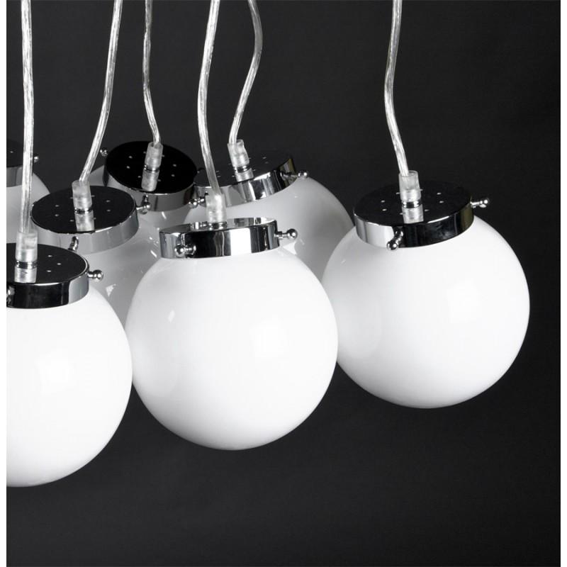 Design suspension lamp 8 balls ARTAMIE (white) metal - image 17251