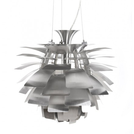 Lampe à suspension design AMYTIS en métal (argent)