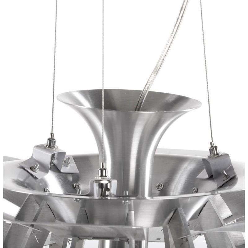 Lampe à suspension design AMYTIS en métal (argent) - image 17282
