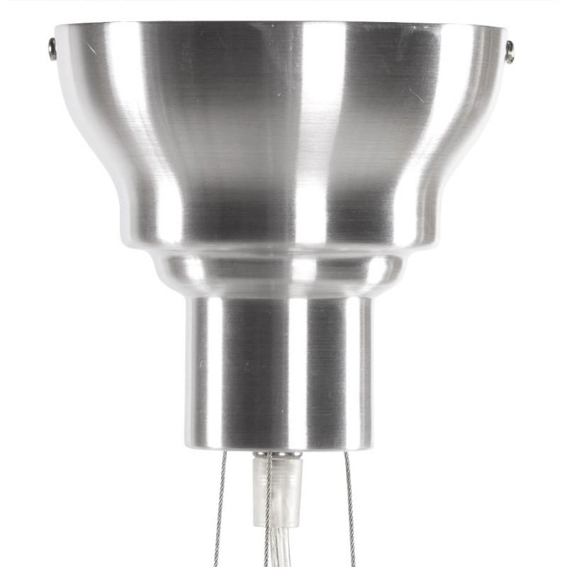 Lampe à suspension design AMYTIS en métal (argent) - image 17283