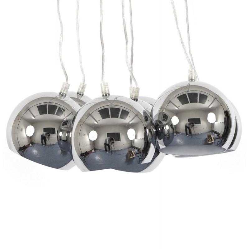 Lampe à suspension design BARE en métal (chromé) - image 17310