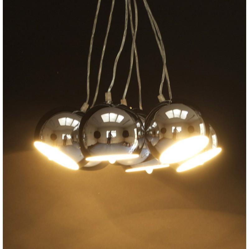 Lampe à suspension design BARE en métal (chromé) - image 17311