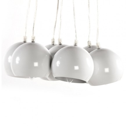 Design pendant BARE metal lamp (white)