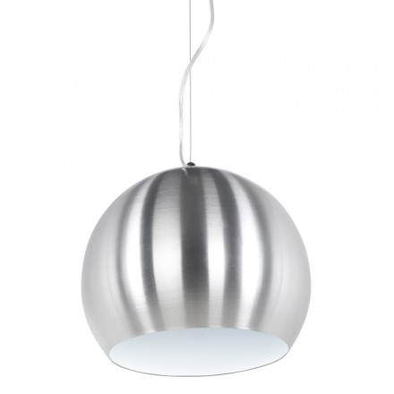 Design pendant ARGUS metal lamp (brushed steel)