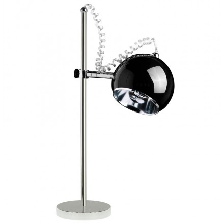 Design table BATARA metal lamp (black)
