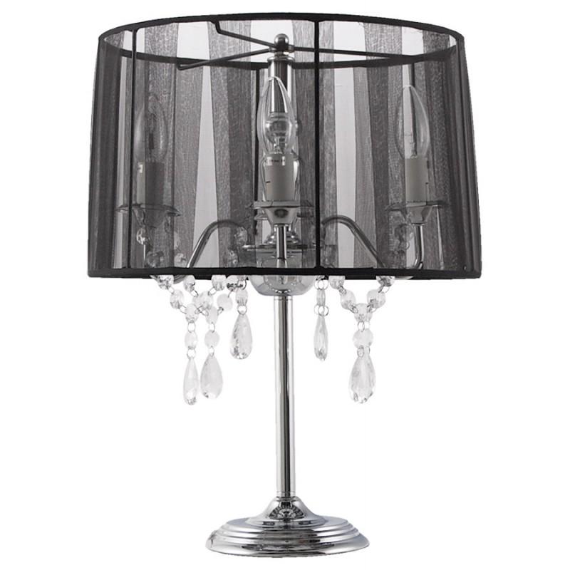 lampe de table design barge en m tal noir. Black Bedroom Furniture Sets. Home Design Ideas