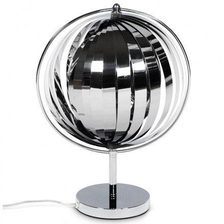 Lampe de table design BECHE SMALL CHROME en métal (chromé)