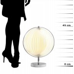 Lampe de table design BECHE SMALL en métal (blanc)