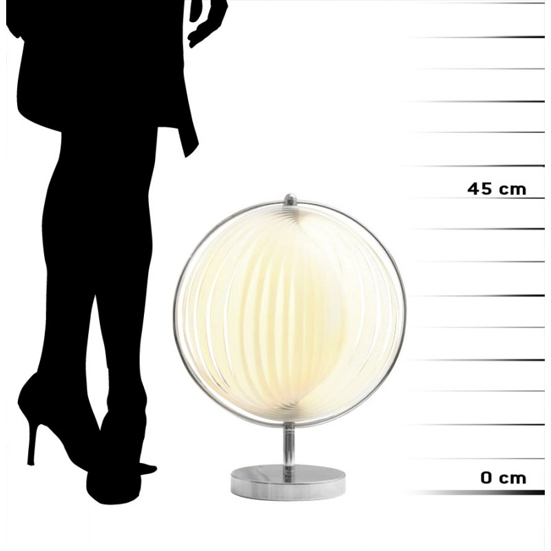 BECHE SMALL design metal table lamp (white) - image 17409