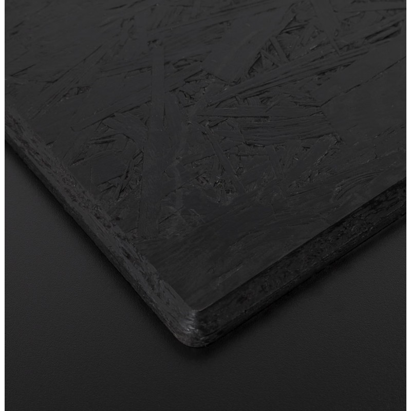 Plateau de table carré VERA en polymère (60cmX60cmX3cm) (noir) - image 17412