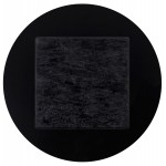 Piazza superiore del tavolo rotondo VERA polimero (60cmX60cmX3cm) (nero)