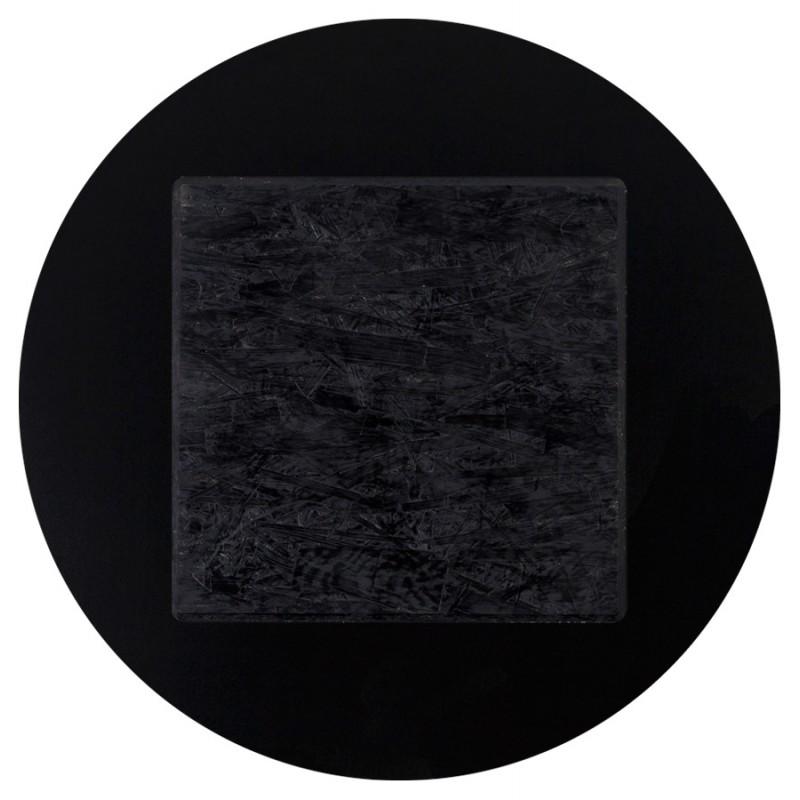 Table top round VERA polymer (60cmX60cmX3cm) (black) - image 17425