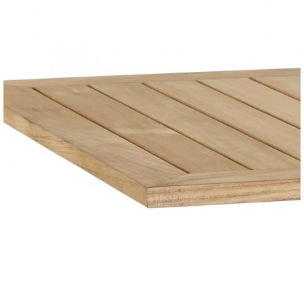 Tischplatte holz natur  Platz Tisch CAMILLA Fach Teak Holz (Natur-) - AMP Story 3011
