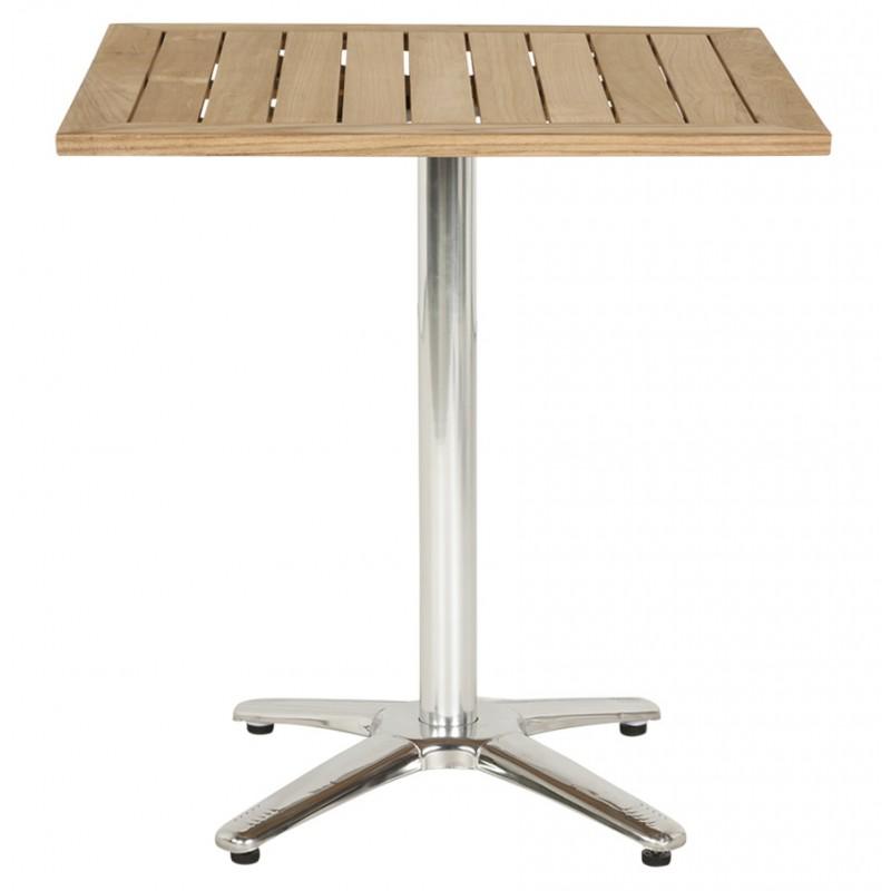 Plateau de table CAMILLA carré en bois de teck (naturel) - image 17436