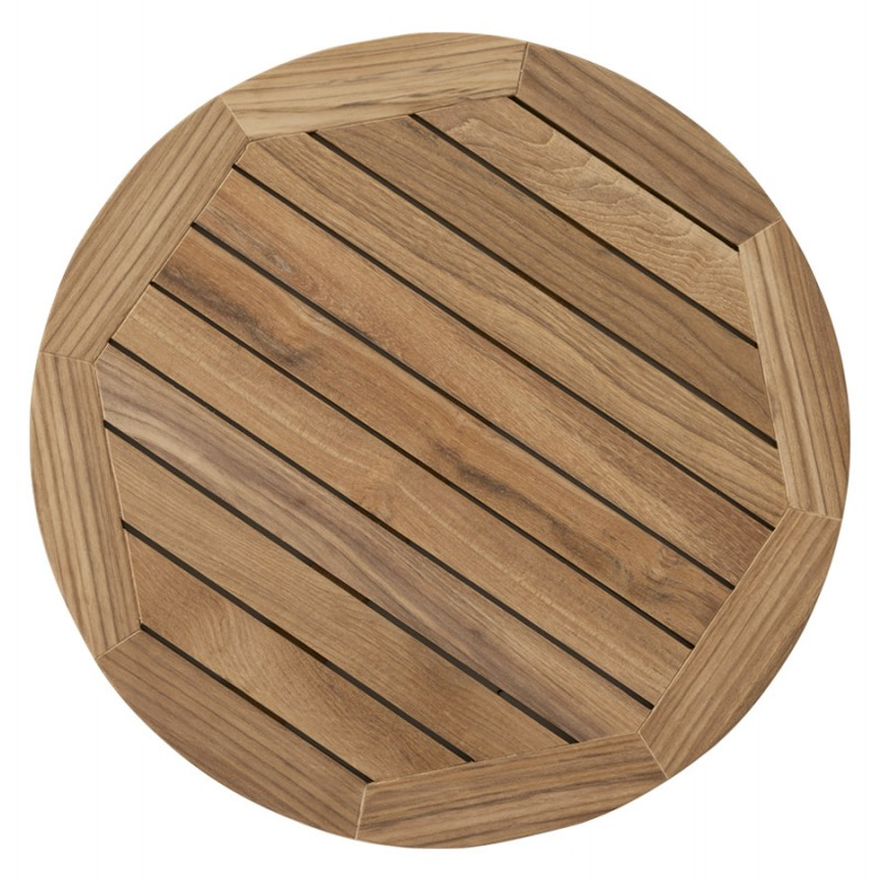 Plateau de table CAMILLA rond en bois de teck (naturel) - image 17437