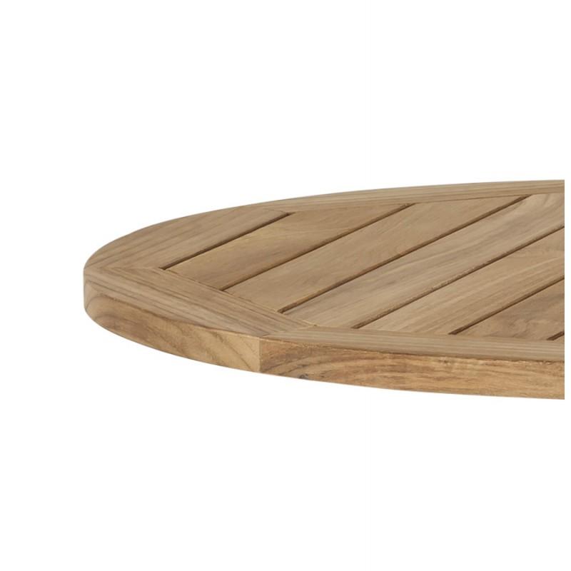 Plateau de table CAMILLA rond en bois de teck (naturel) - image 17438