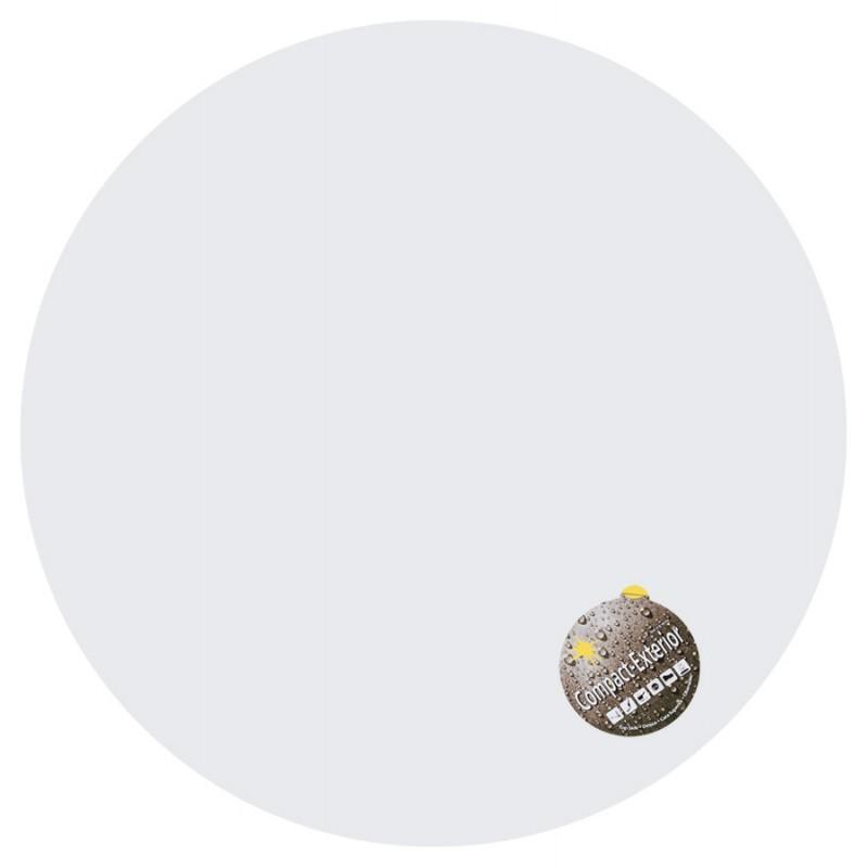 Plateau de table LILAS rond en polymère (68cmX68cmX3cm) (blanc)