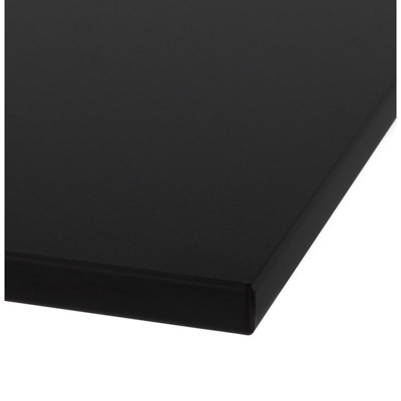 Plateau de table LILAS carré en polymère (68cmX68cmX3cm) (noir) - image 17453
