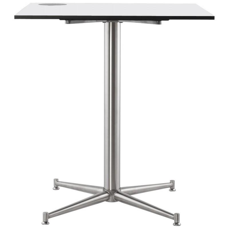 plateau de table lilas carr en polym re 68cmx68cmx3cm blanc. Black Bedroom Furniture Sets. Home Design Ideas