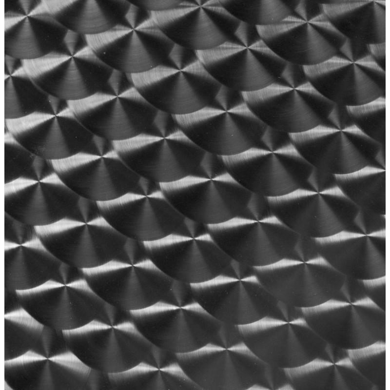 Plateau de table ISA rond en bois et acier inoxydable (60cmX60cmX2cm)  - image 17616