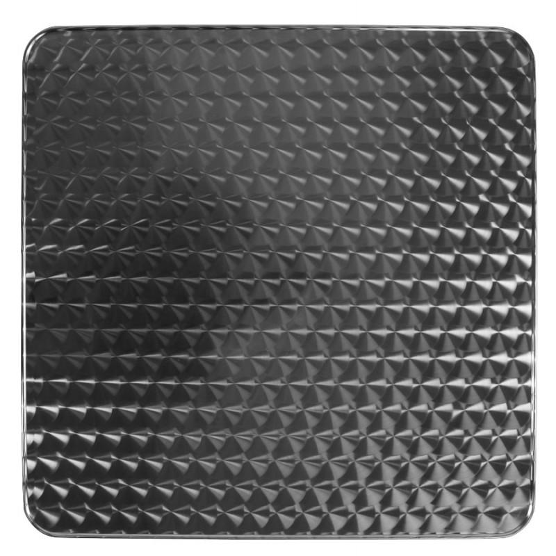 Plateau de table ISA carré en bois et acier inoxydable (70cmX70cmX2cm) - image 17617