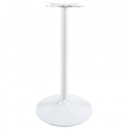 Round Table leg WIND without the tray of metal (60cmX60cmX110cm) (white)