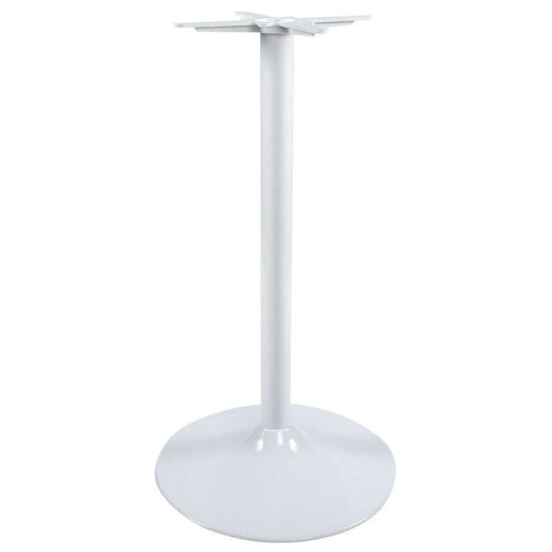 Pied de table WIND rond sans plateau en métal (60cmX60cmX110cm) (blanc) - image 17620