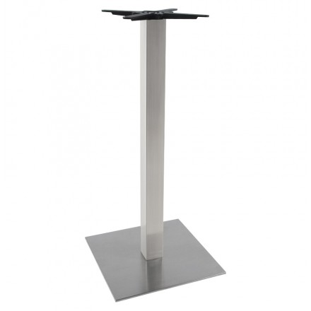WIND square table leg without tray in brushed metal (50cmX50cmX110cm) (steel)