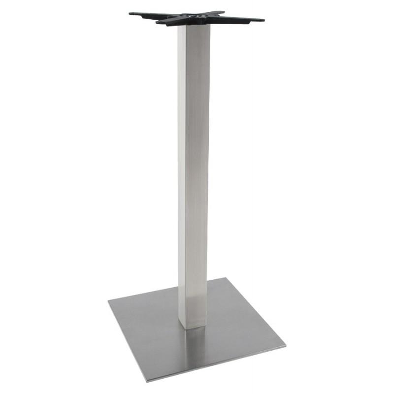 Pied de table WIND carré sans plateau en acier brossé (50cmX50cmX110cm) (acier) - image 17626