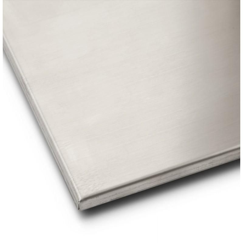 Pied de table WIND carré sans plateau en acier brossé (50cmX50cmX110cm) (acier) - image 17630
