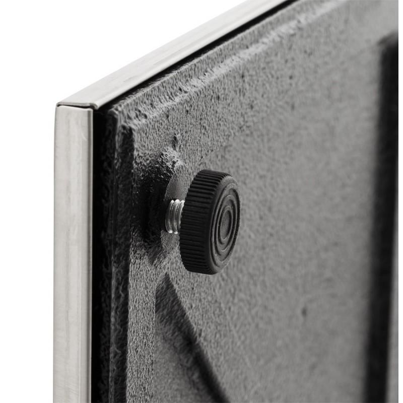 Pied de table WIND carré sans plateau en acier brossé (50cmX50cmX110cm) (acier) - image 17632