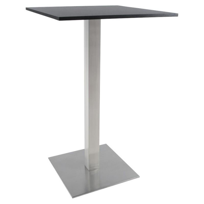 Pied de table WIND carré sans plateau en acier brossé (50cmX50cmX110cm) (acier) - image 17635