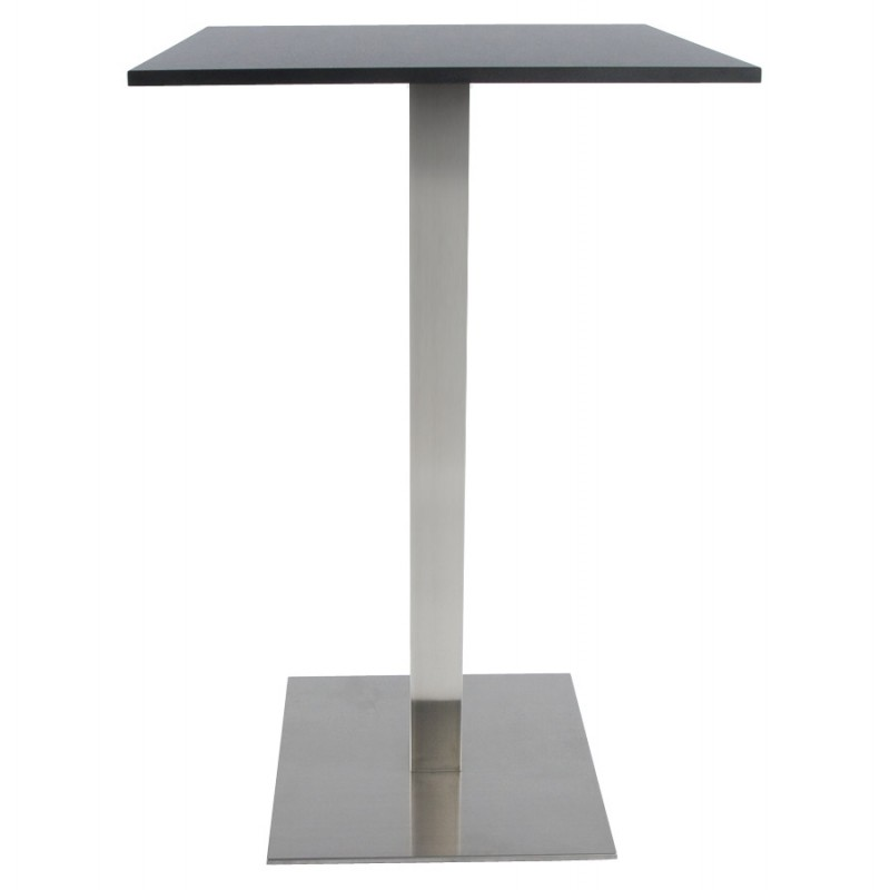 Pied de table WIND carré sans plateau en acier brossé (50cmX50cmX110cm) (acier) - image 17636
