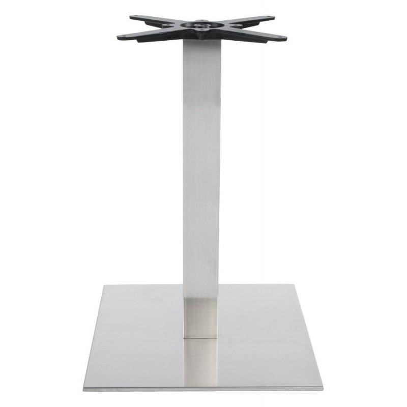 Pied de table WIND carré sans plateau en acier brossé (50cmX50cmX73cm) (acier) - image 17640