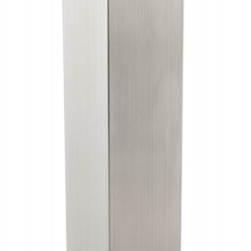 Pied de table WIND carré sans plateau en acier brossé (50cmX50cmX73cm) (acier) - image 17642