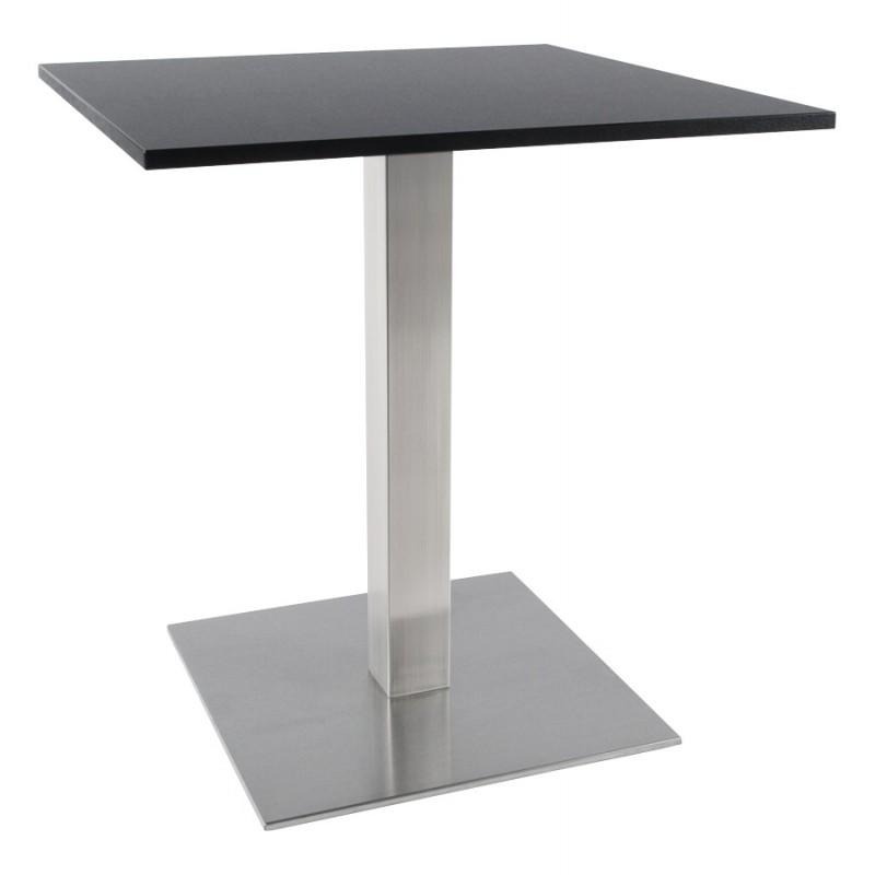 Pied de table WIND carré sans plateau en acier brossé (50cmX50cmX73cm) (acier) - image 17648