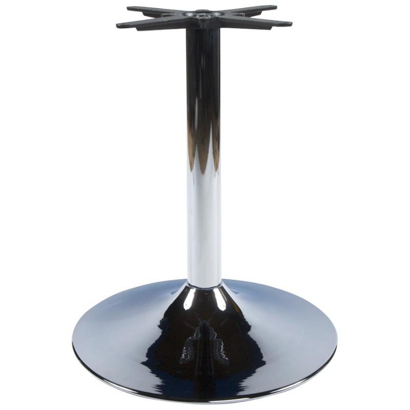 Pied de table WIND rond sans plateau en métal (60cmX60cmX75cm) (chromé)