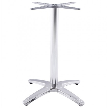 Table leg AUTAN shape Cross chromed metal (63cmX63cmX74cm) (aluminium)